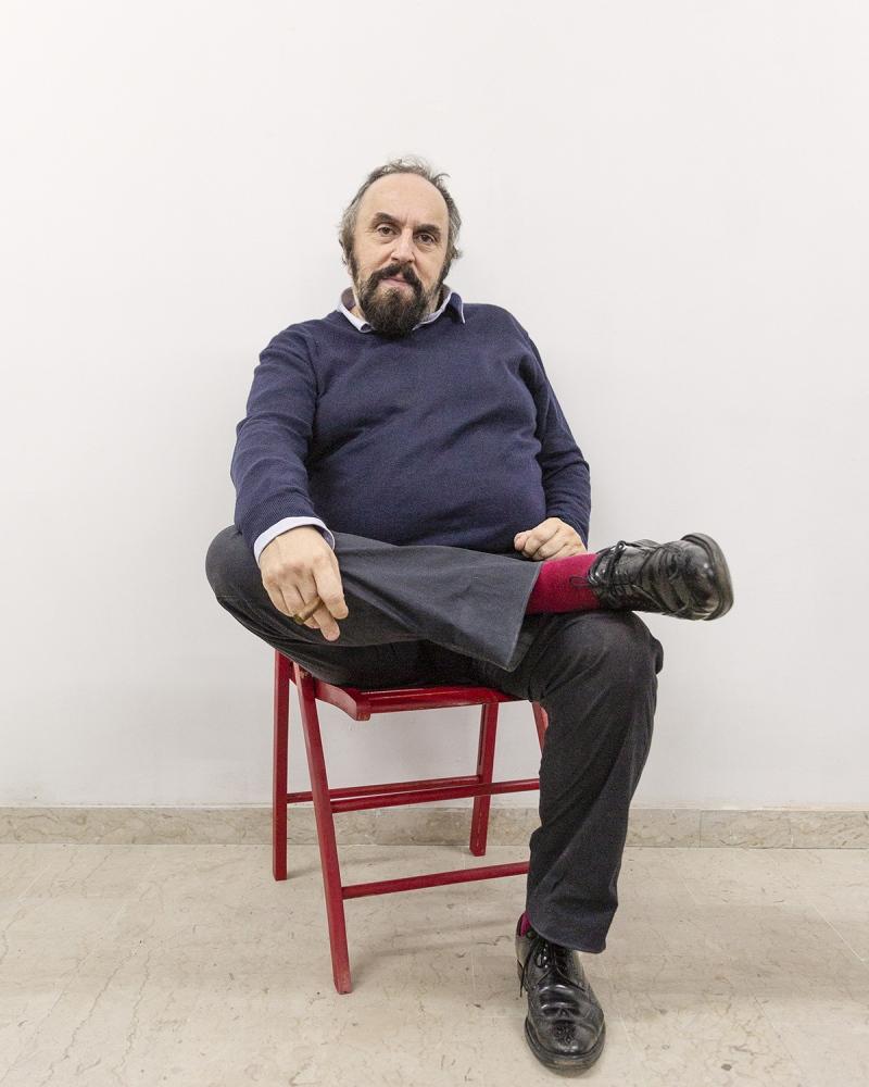 l'attore e assessore alla cultura del Comune di Pisa, Andrea Buscemi.