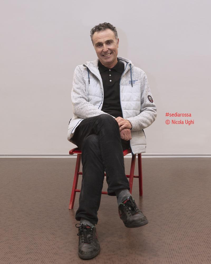 il giornalista sportivo Aldo Orsini, ritratto alle Officine Garibaldi di PIsa.