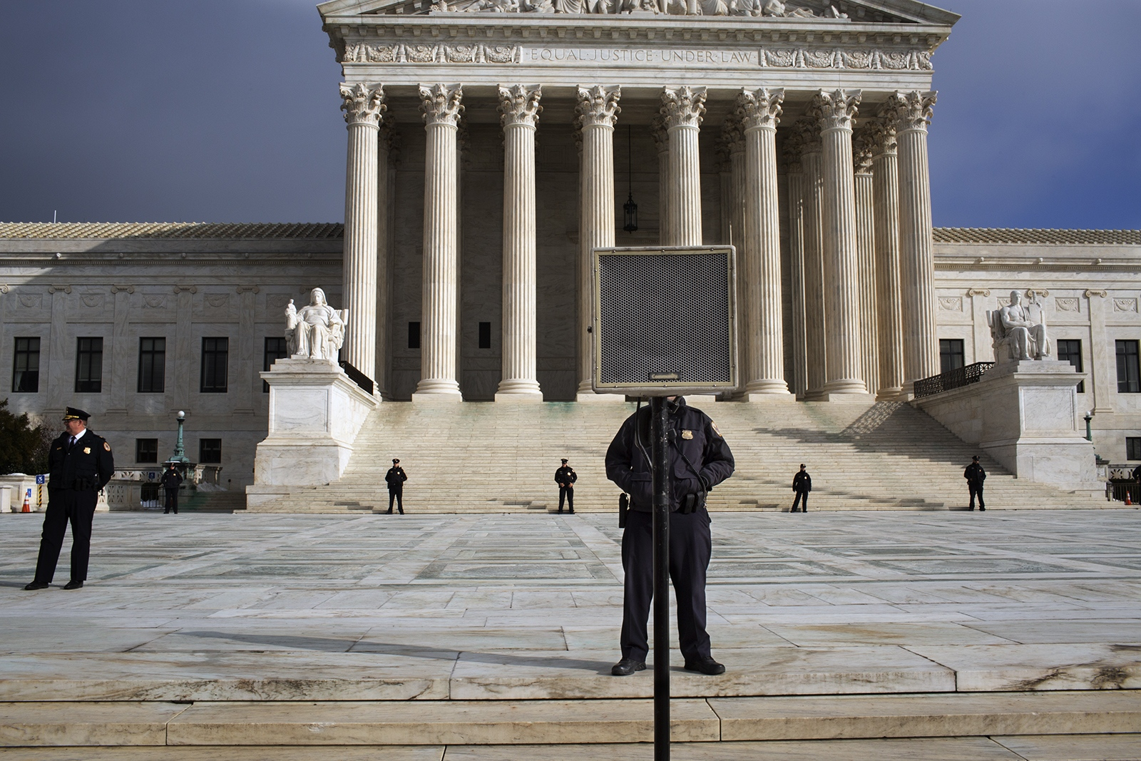 The Supreme Court Police prepare for the people taking part of the 2019 March for Life to arrive on January 19th.