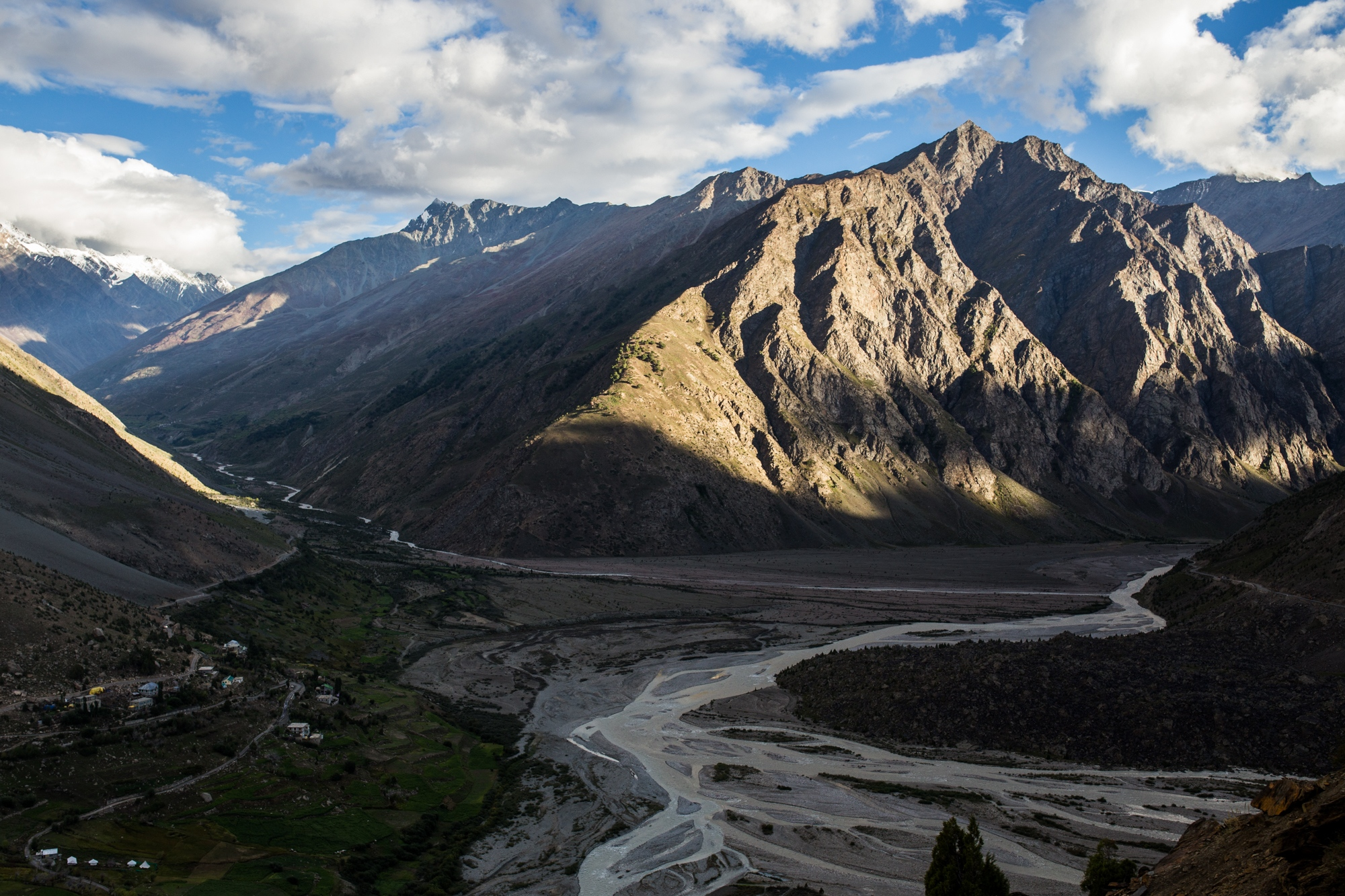Originating from high Himalayan glaciers, the confluence of two rivers in India's Lahaul Valley. Billions of people across Asia depend on rivers like these for their main source of water.