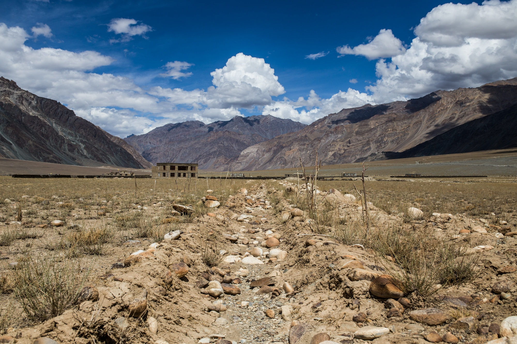 What was once a canal used for irrigation remains bone dry in the Indian Himalaya.