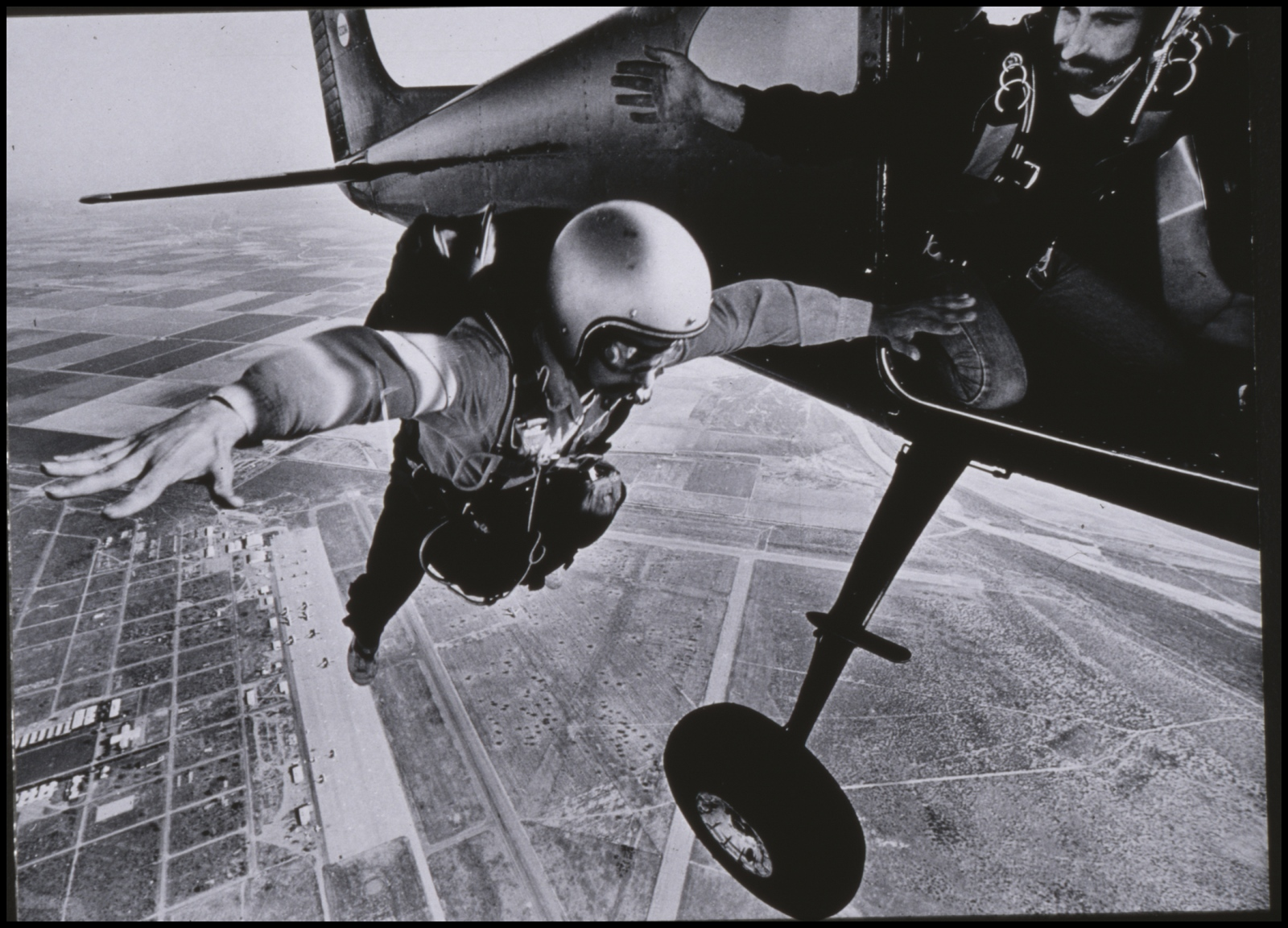 Skydiving, Wisconsin, USA. 1977.