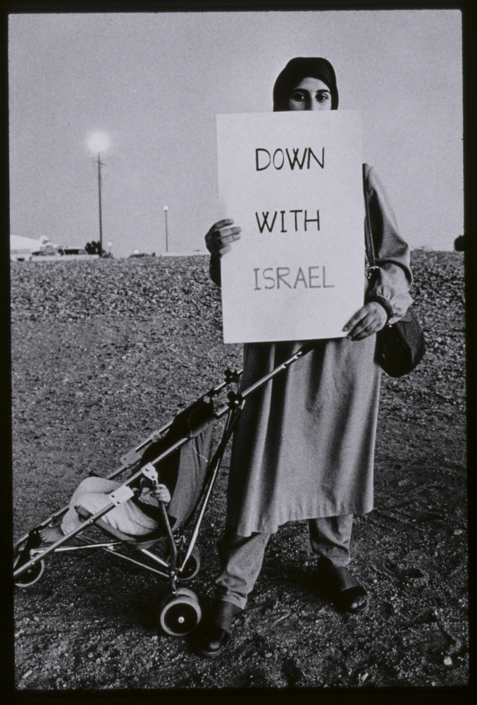 Little change over decades, anti- Israel protest by Muslim believers, Arizona,USA.1980s.