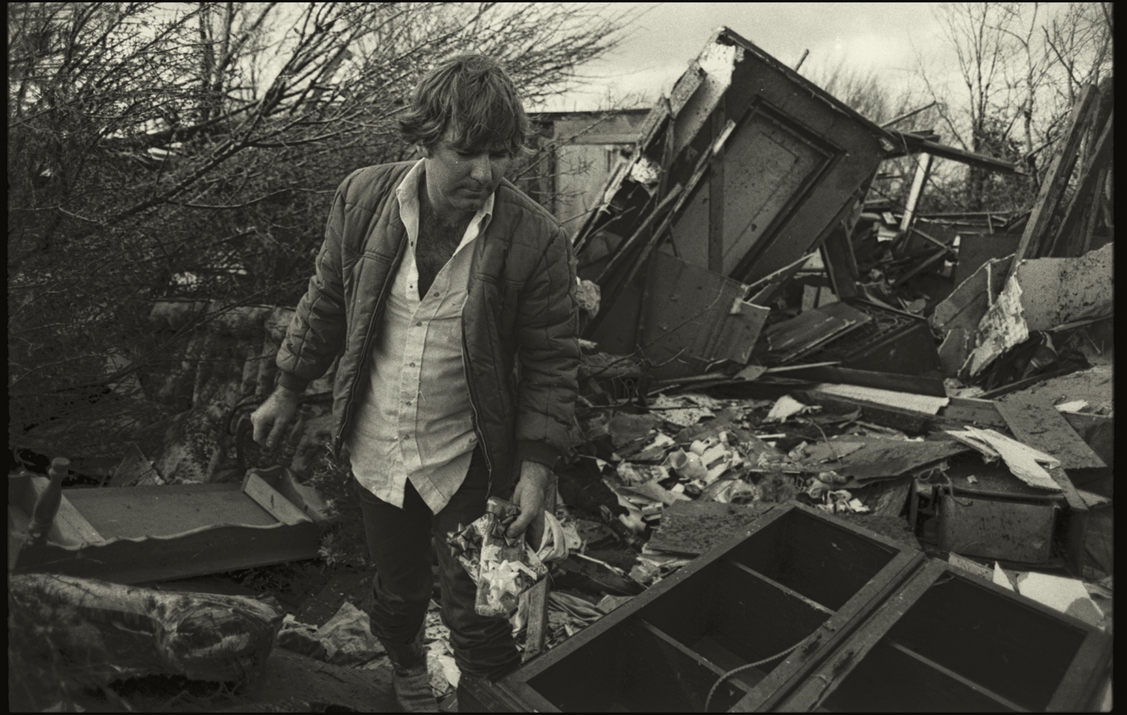 Tornado aftermath, Balch Springs, Texas, USA. 1986.