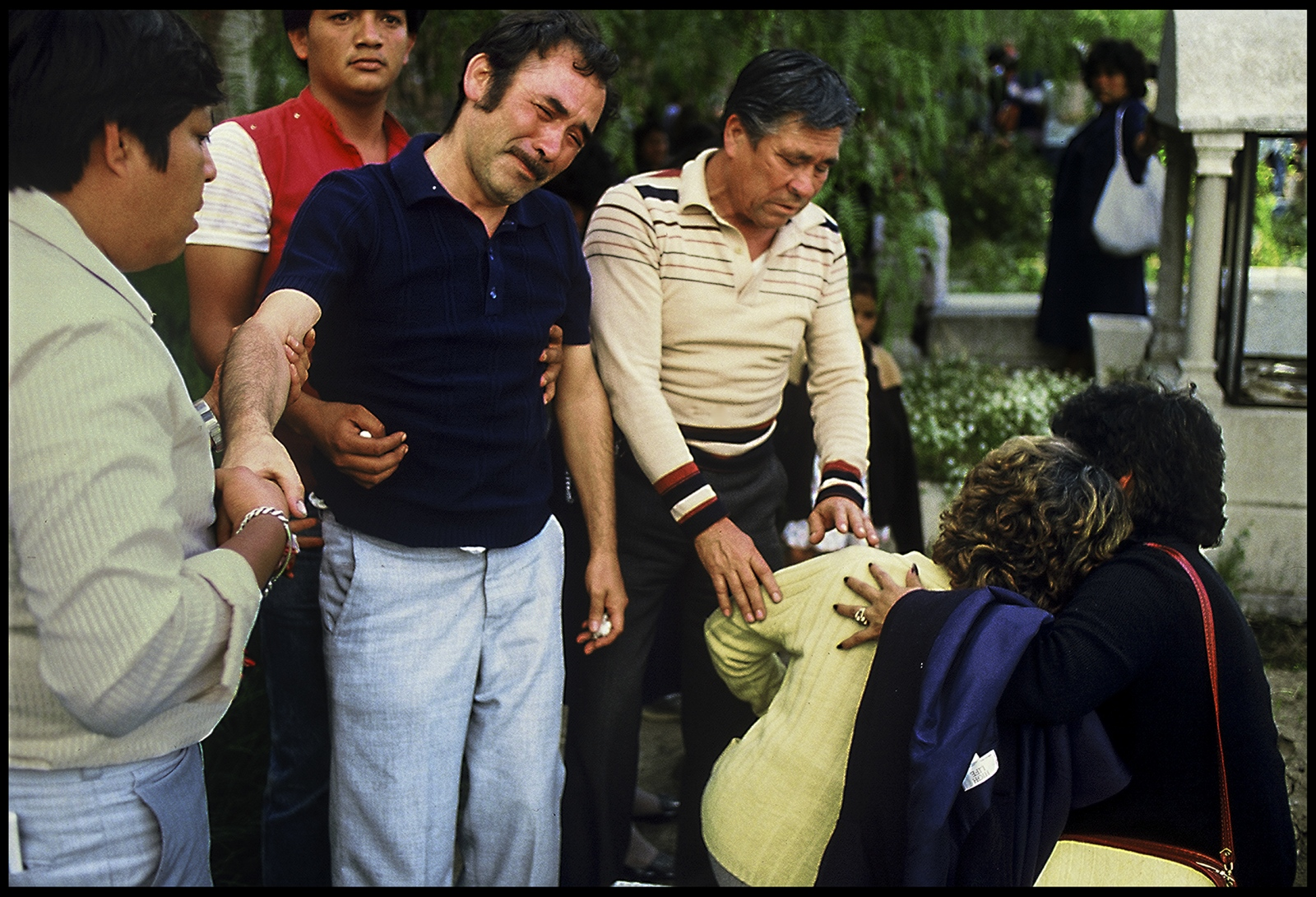 Funerals for those killed as result of earthquake, Mexico City, Mexico, 1986.