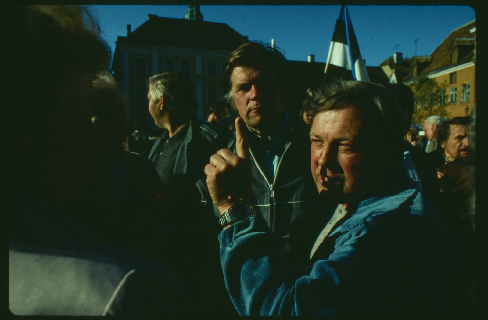 Political unrest, Anti- Soviet protest, Tallin, Estonia.1989.