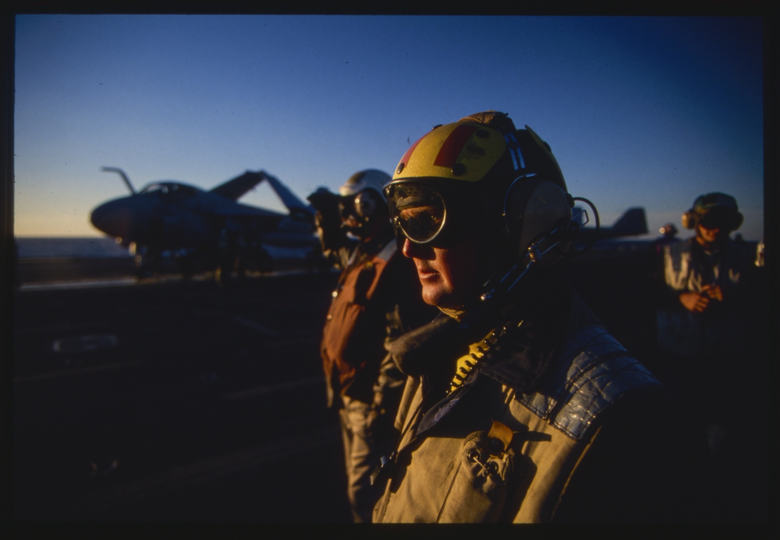 Flight deck operations, USS. George Washington in the Atlantic Ocean. 1995.