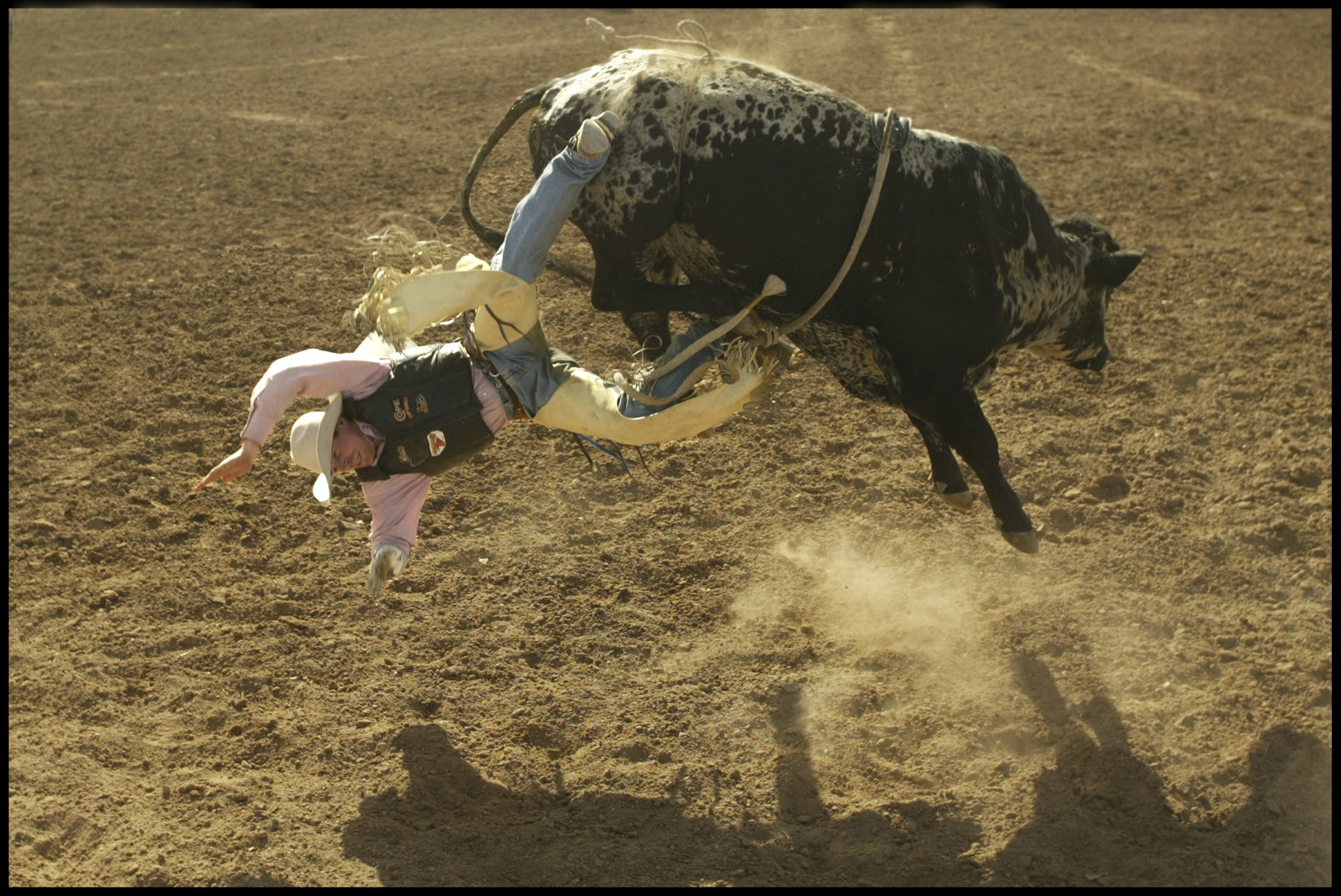 Bucked off, Tucson Rodeo. Sports Illustrated Magazine.2004.