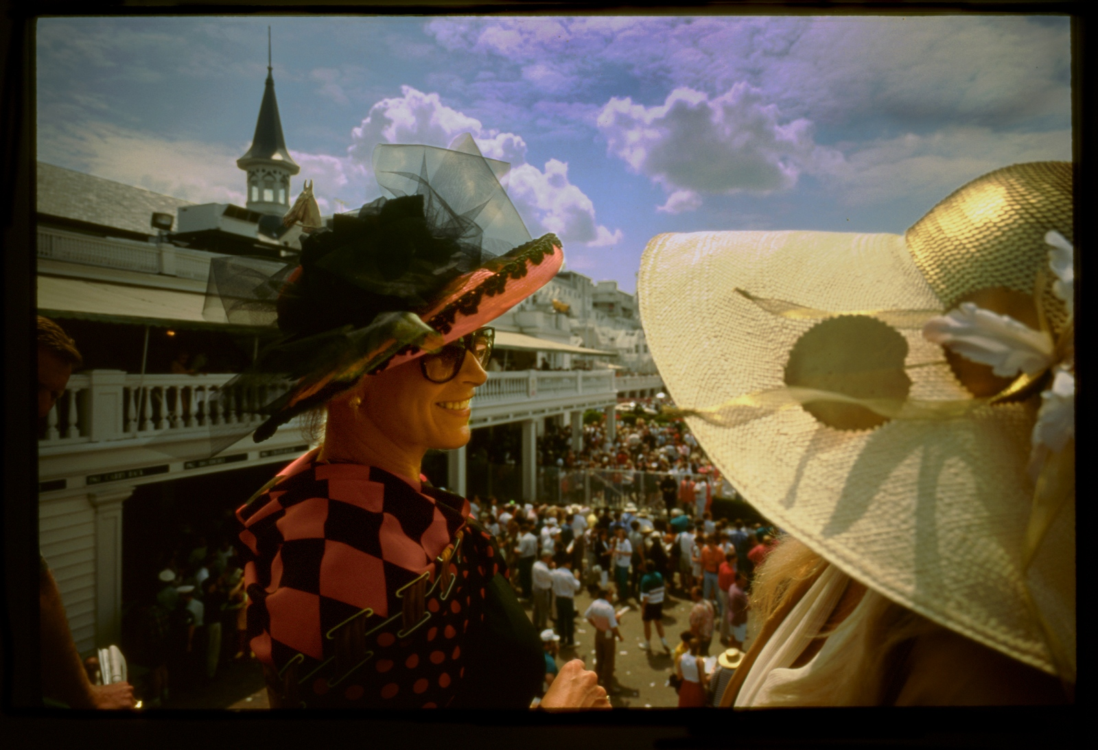 Upper class hats, Kentucky Derby, Louisville, Kentucky, USA.1993.