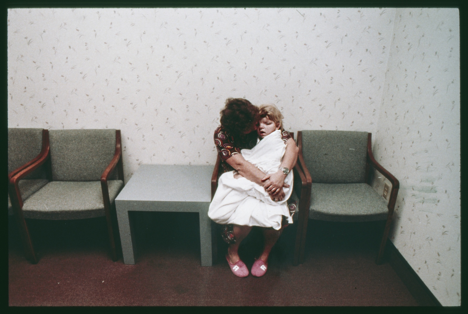 Single mother and daughter, pre-operation, Dallas, Texas, USA. 1989.