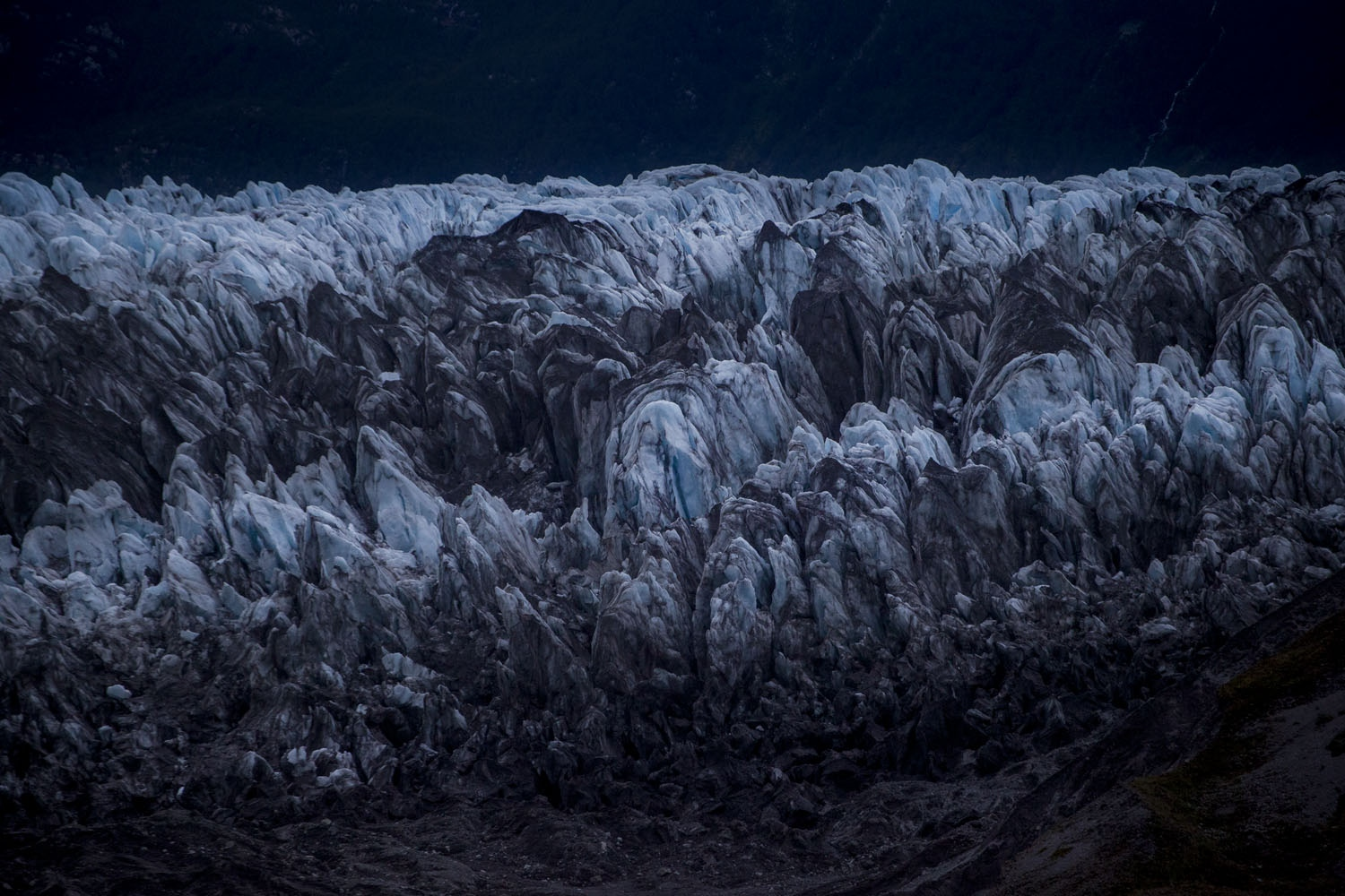 The Amalia Glacier, is a tidewater glacier located in Bernardo O'Higgins National Park on the edge of the Sarmiento Channel. The glacier originates in the Southern Patagonia ice field. From 1945 to 1986, its terminus retreated 7 km, being along with the recession of the O'Higgins glacier the most dramatic retreat of glaciers of the Southern Patagonia ice field during that period. Chile.