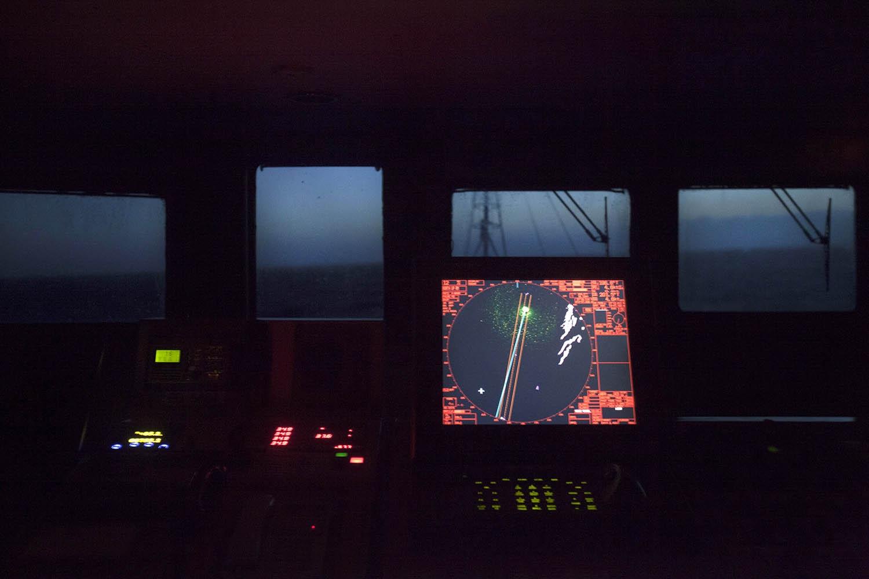 Bridge of the My Esperanza. Sailing south Pacific Ocean, Chile.