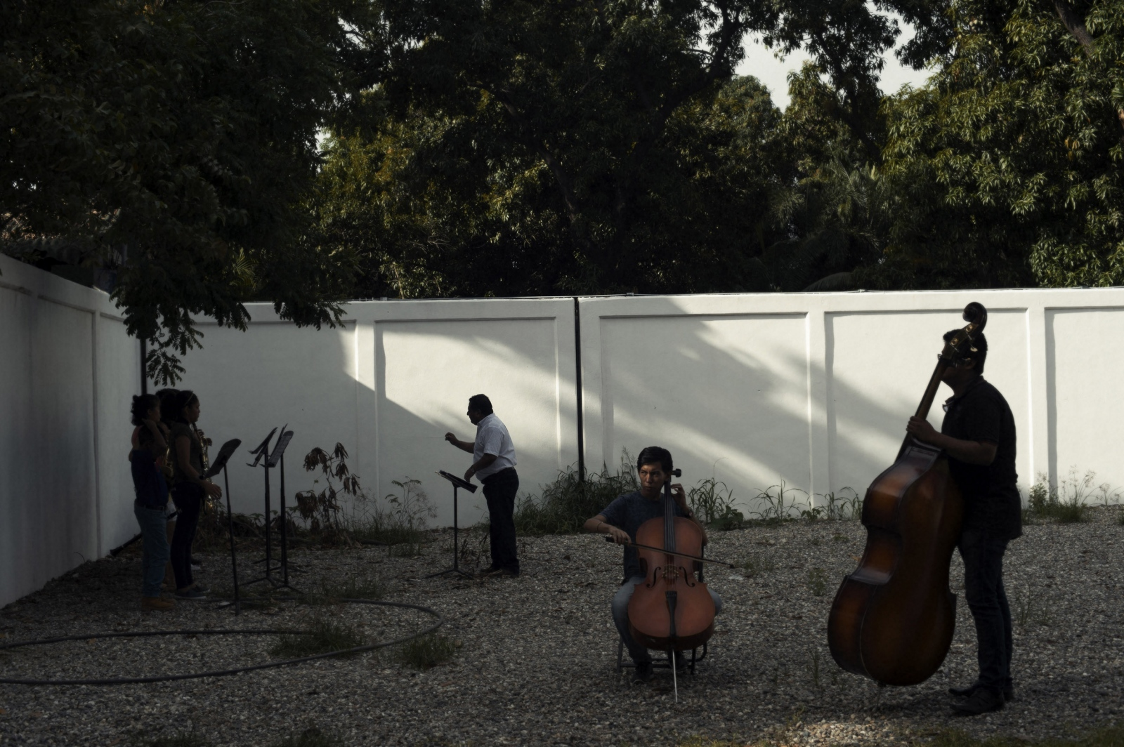 Students in barrio ciudad renaciemiento (Renaissance City neighborhood) practice music as part of an orchestra created to keep them away from the violence swirling around this Acapulco neighborhood, which is caught in the middle of the drug war. Latin America is by far the worlds most violent region, with Acapulco being the world's second most violent city.
