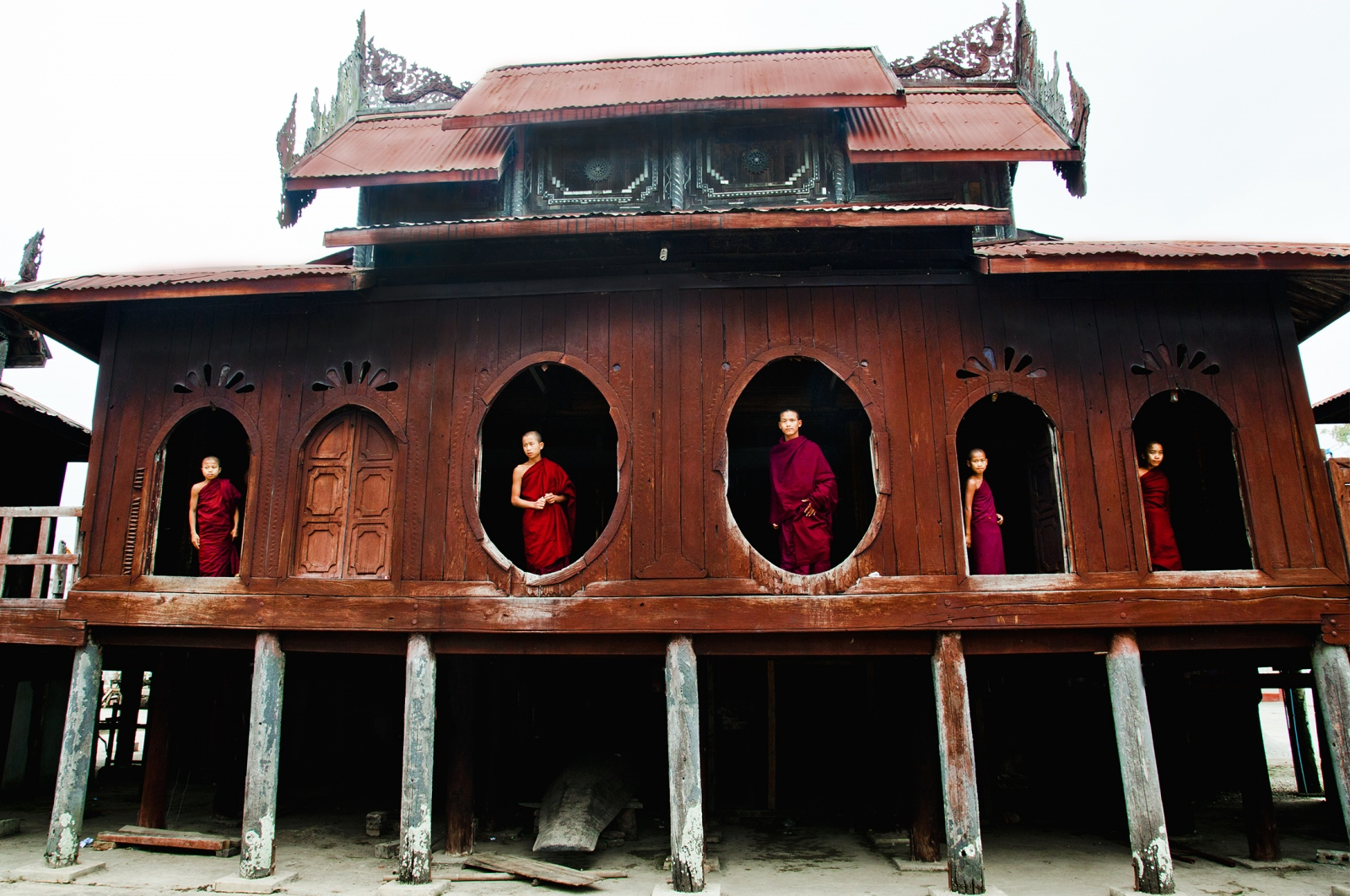 Photography image - Loading monks_in_window_web.jpg