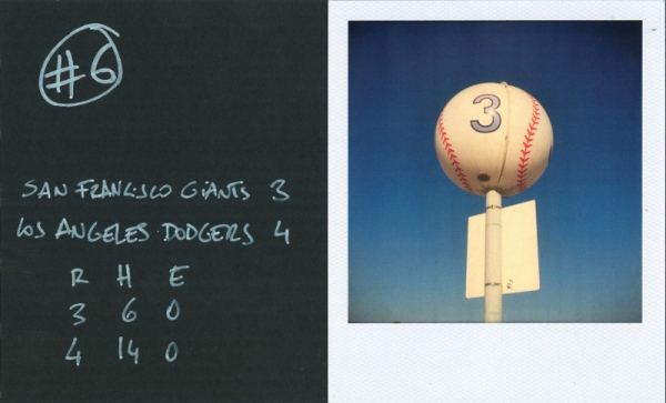 """San Francisco Giants 3. Los Angeles Dodgers 4""."