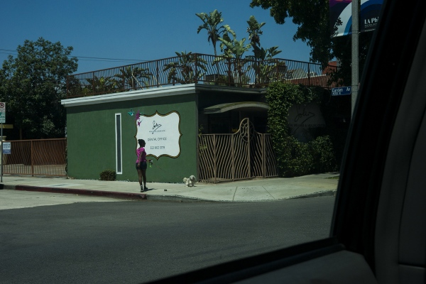 Street scene. Near Los Feliz Boulevard. Los Angeles (California). 2018