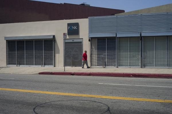 Street scene. Near Fashion District. Los Angeles (California). 2018