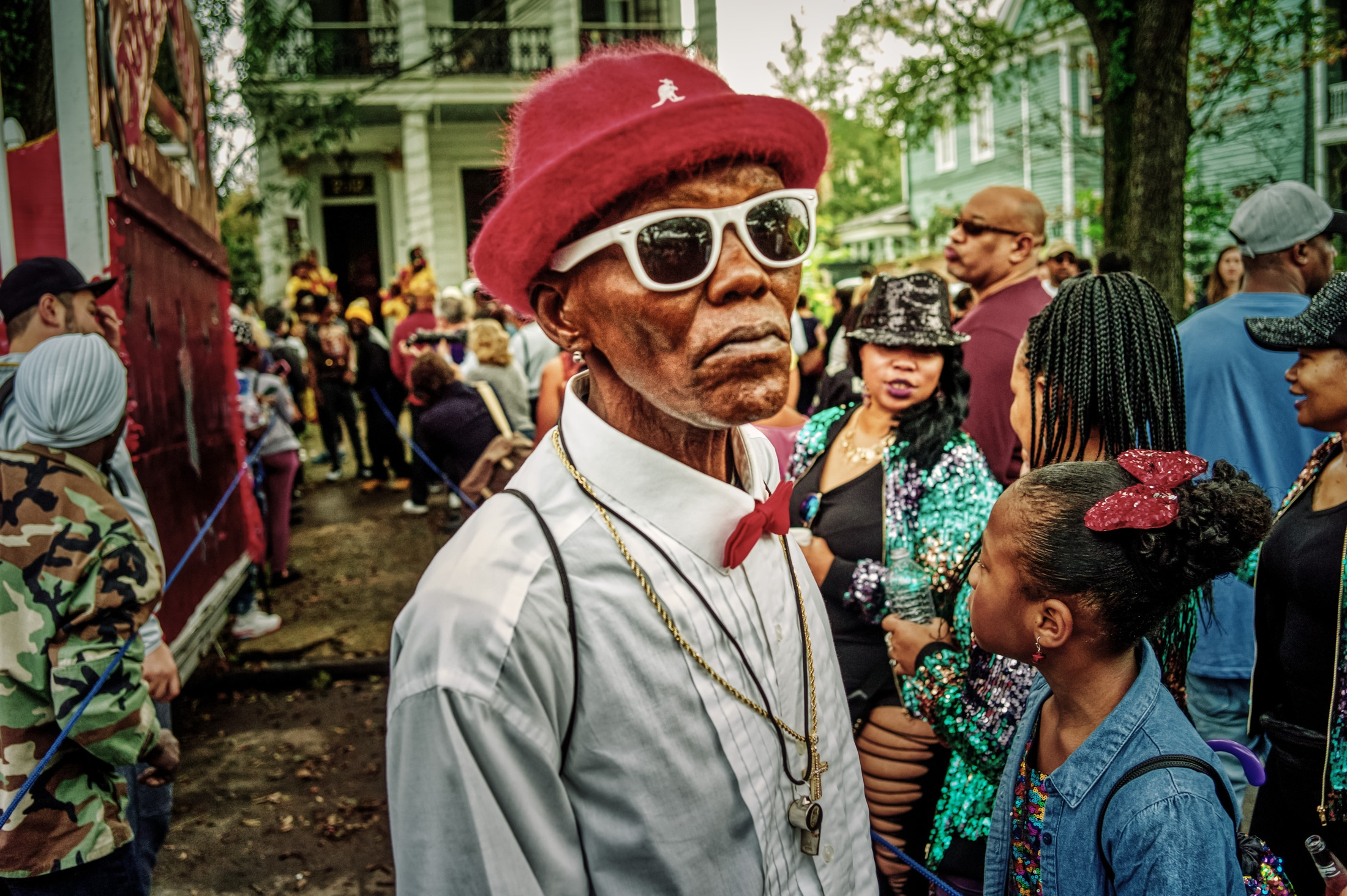 Street Portrait at Lady Rollers Second Line Parade