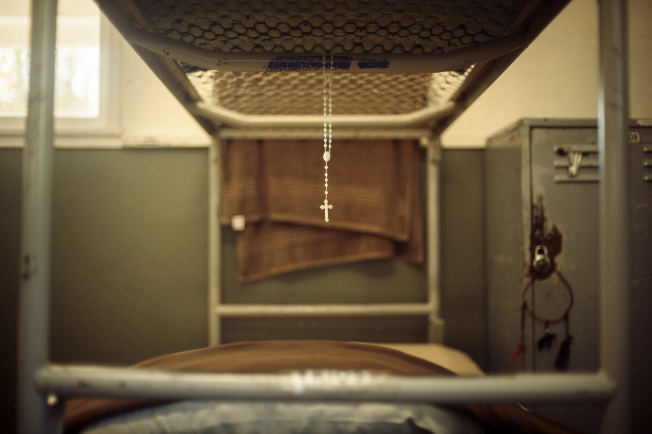 Small items from home, like Rosary beads, are allowed at the prison camp to allow a connection between the inmate's and their culture.