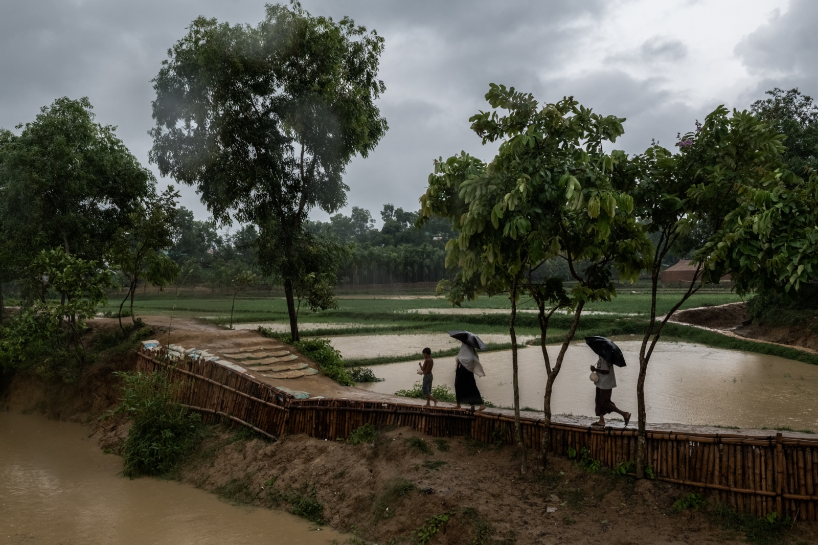 The Kutupalong refugee camp in Bangladesh