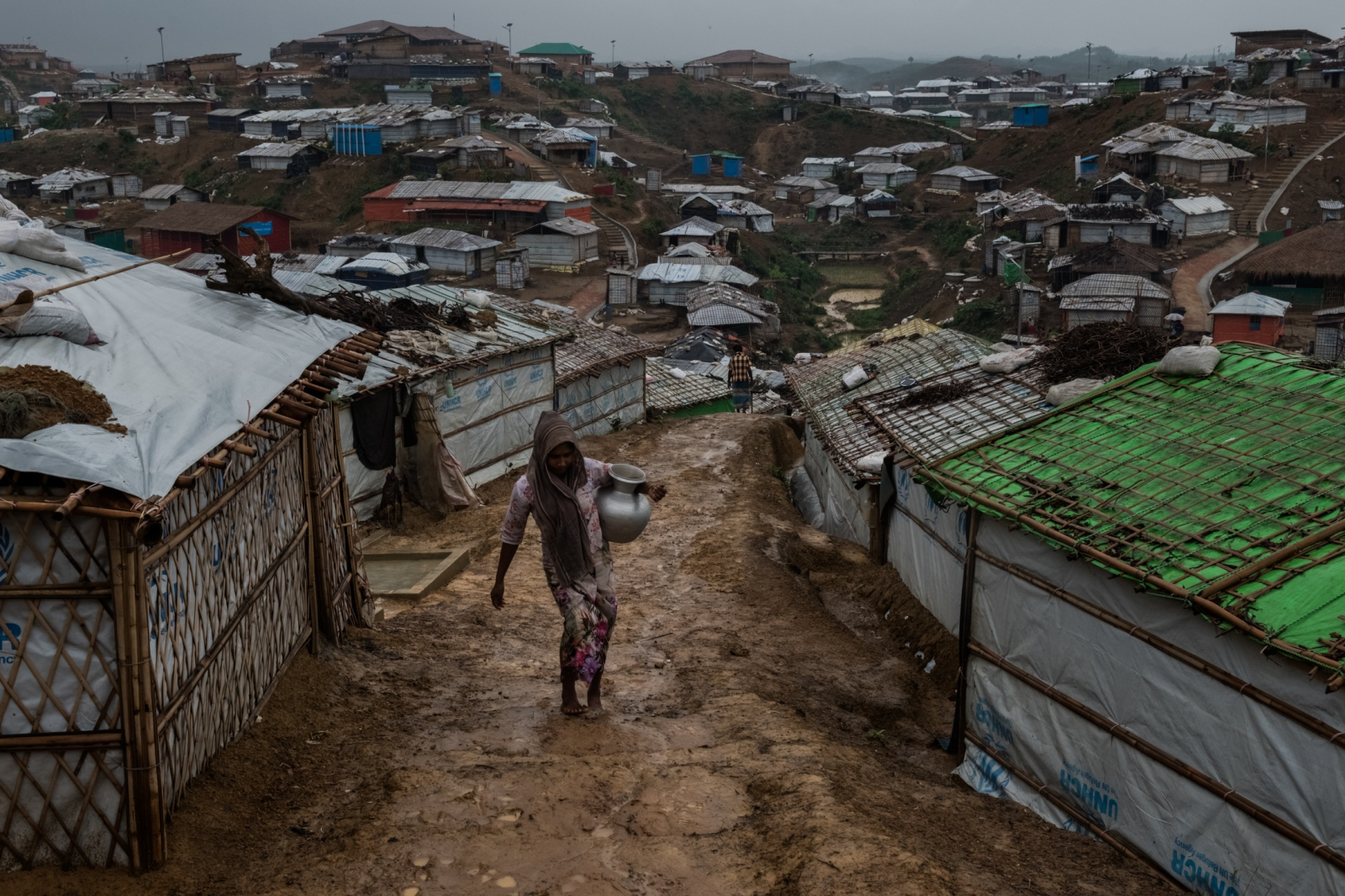 The Kutupalong refugee camp in Bangladesh