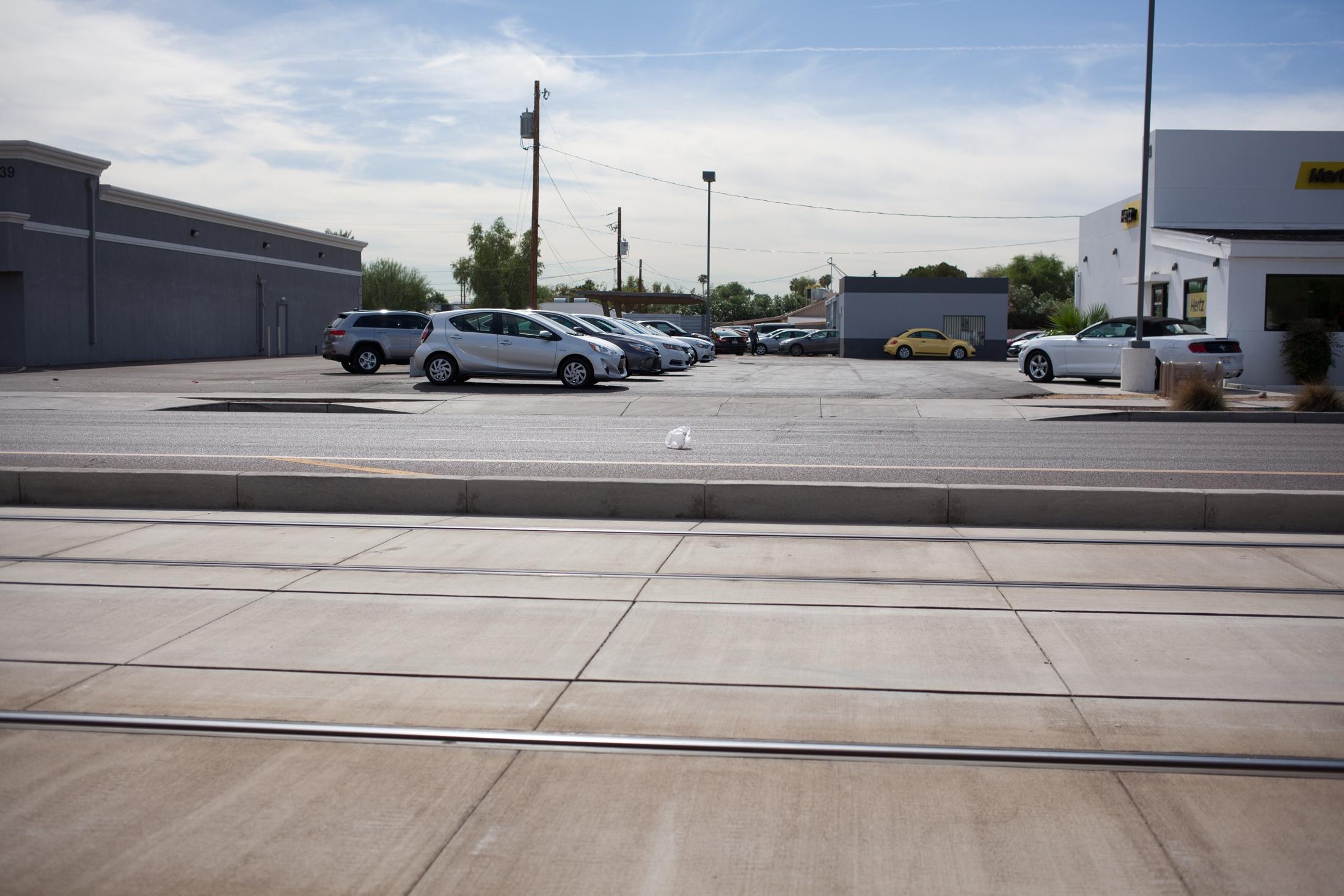 Street in central Phoenix, AZ
