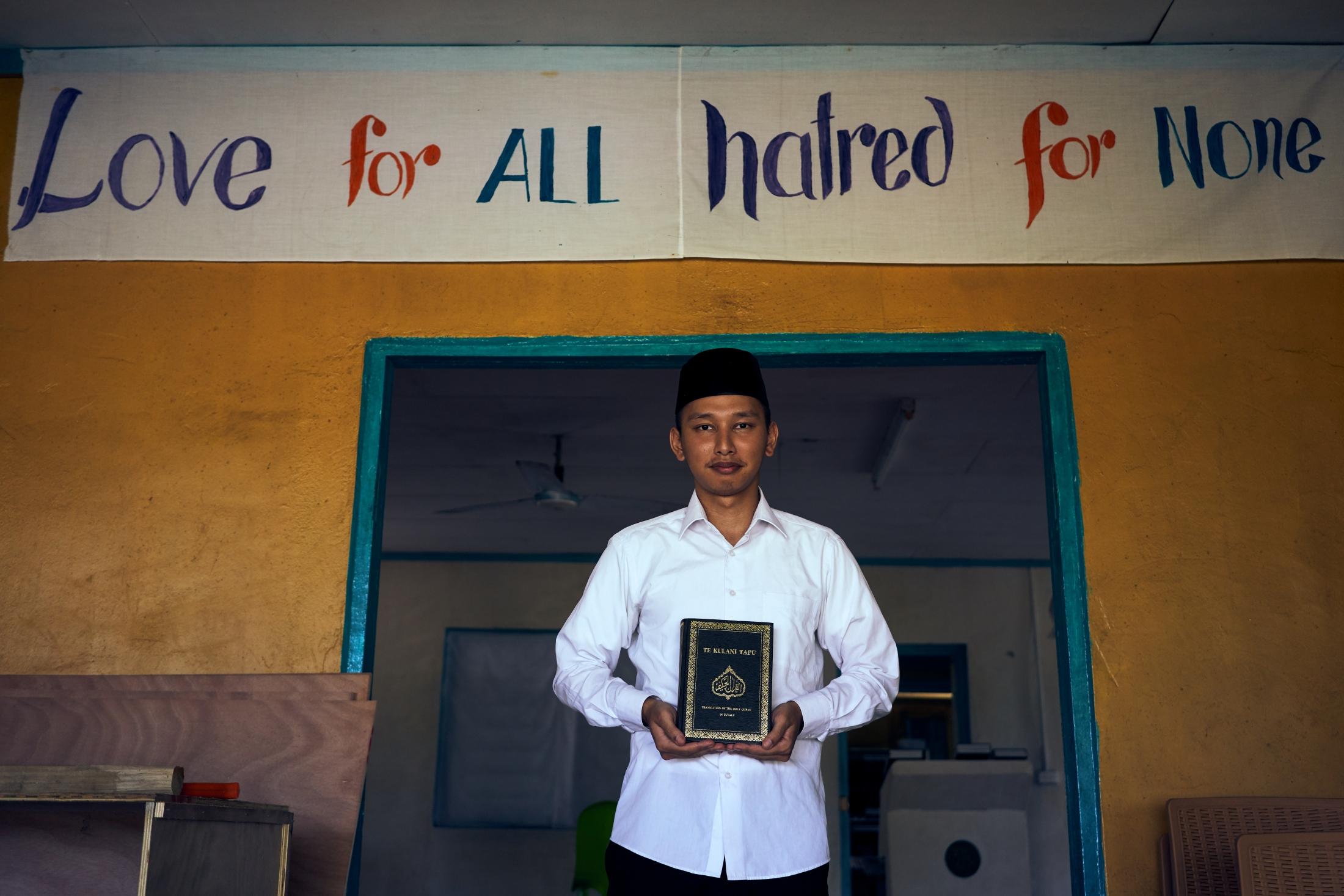 Anugerah Rahadian Firdaus, the Imam of Tuvalu's Ahmadiyyah Mosque.