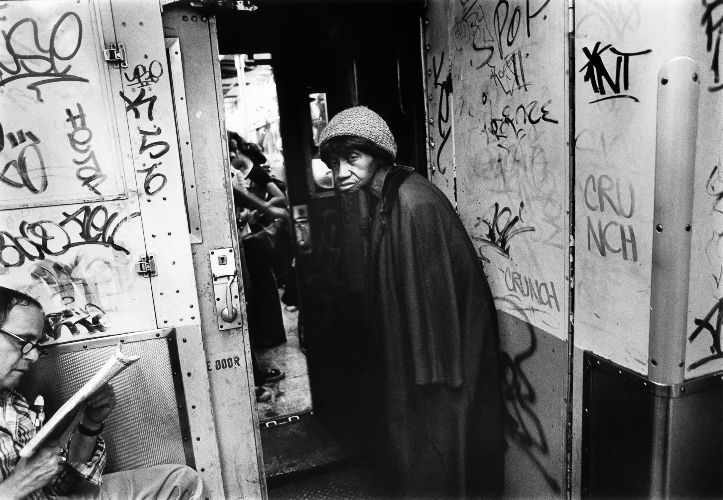 A New York City subway scene in the early '80s. Graffiti was everywhere. And poverty was more prevalent.