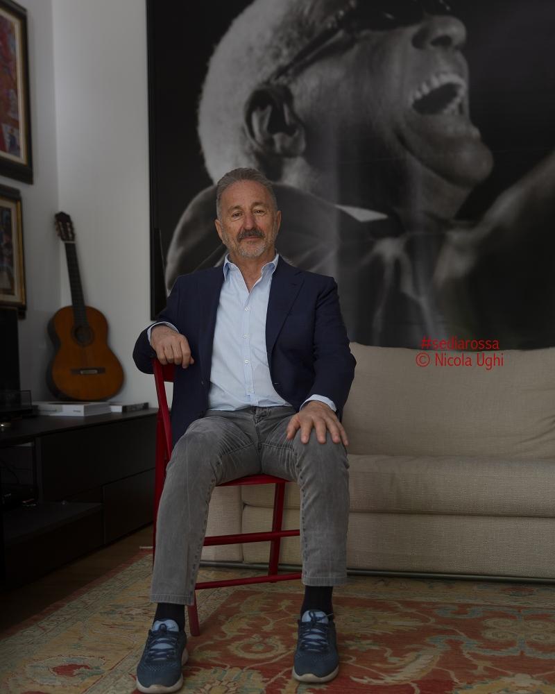 L'inventore del Lucca Summer Festival, il promoter Mimmo D'Alessandro, nella sua casa di Viareggio (LU)