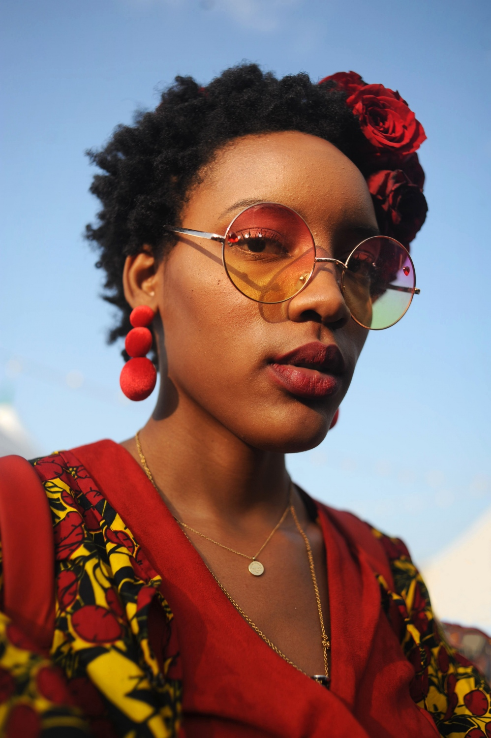 """""""I love Afropunk. I went in Paris and London last year, and now I'm back in the States so I'm going to do it again. It's for us and by us. It's a forum to have our own space and to be able to exist. To be our most creative and open selves and everyone is accepted. It's a safe space. Afropunk is for me. """" Elyse Hines, 21 from St. Louis, Missouri"""