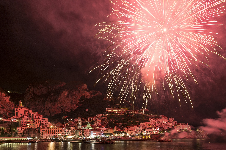 Amalfi: S.Andrea's fireworks