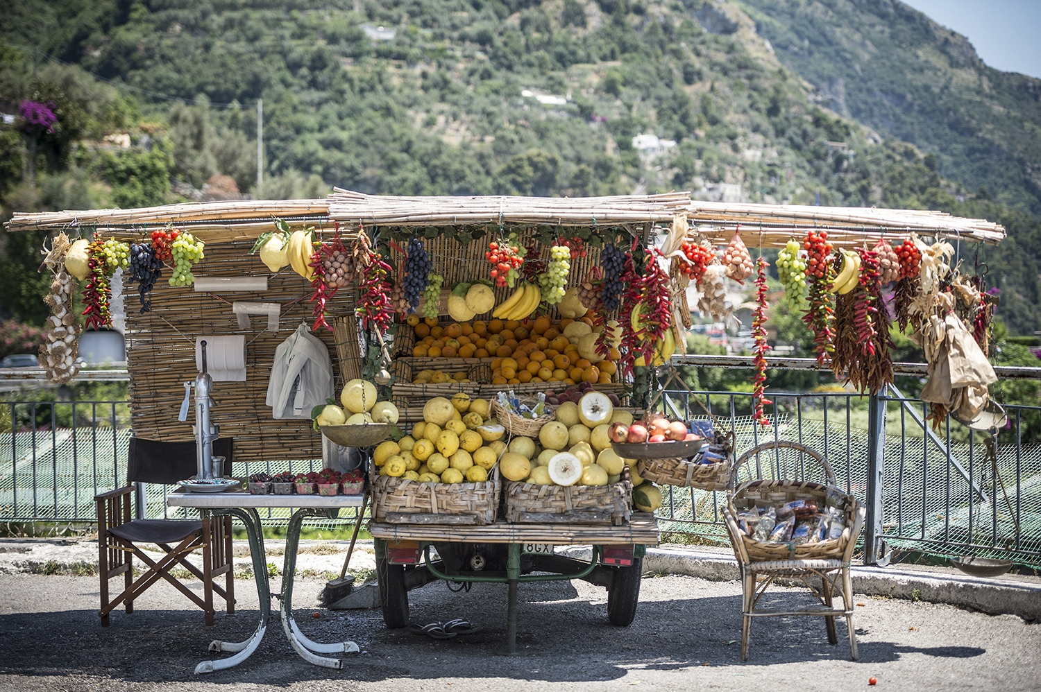 Near Positano: a typical Ape selling fruits and greens