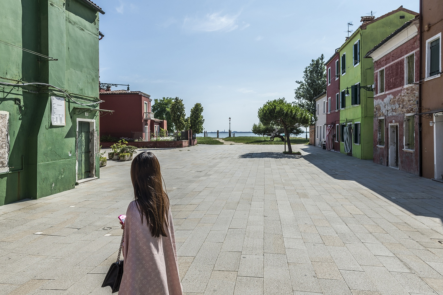 A Japanese elegant girl in Burano