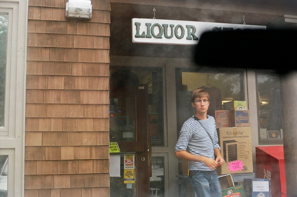 Denis at the liquor store, Charleston, RI