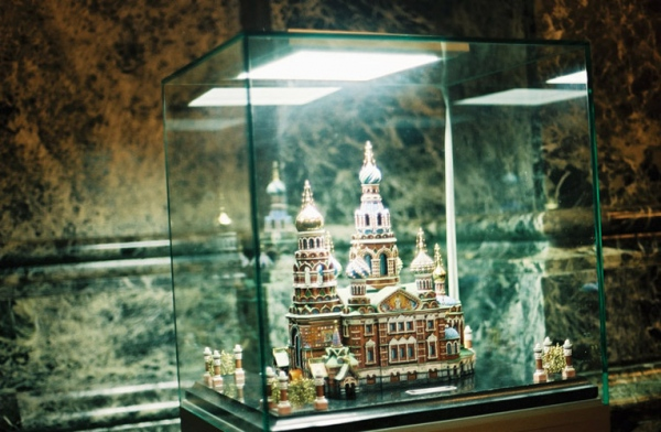 A model of the church in the church, Moscow, Russia