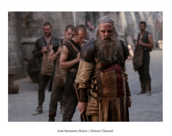 Mark Hammill shot for A+E Networks and HISTORY Channel.   https://www.inquisitr.com/5352806/knightfall-heres-everything-you-need-to-know-ahead-of-the-season-2-premiere/