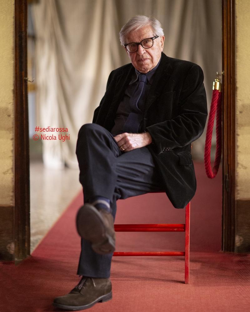 Il leggendario regista Paolo Taviani, a Palazzo Pfanner a Lucca per il Lucca Film Festival