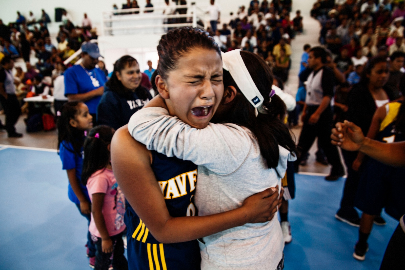 GUELATAO DE JUÁREZ, MARCH 21, 2013. Victoria, a player from the village of Yavesia, weeps with joy after winning the final game in her category.