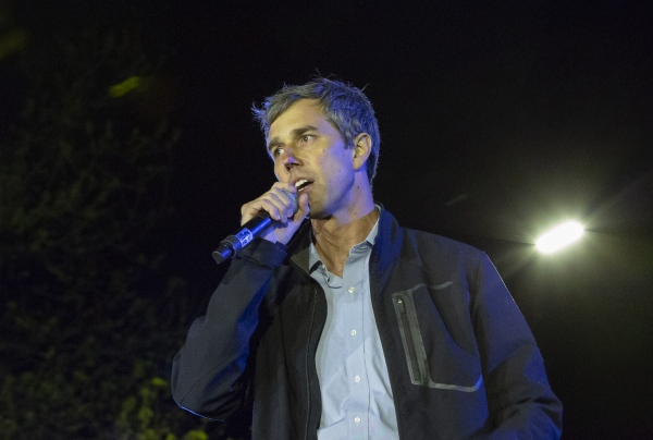 """Democratic presidential candidate and former Texas congressman Beto O'Rourke speaks during his presidential campaign kickoff rally in Austin,Texas, in front of the Texas State Capitol, Saturday, March 30,2019 Thousands of supporters shouted """"Beto!"""""""