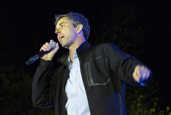 "Democratic presidential candidate and former Texas congressman Beto O'Rourke speaks during his presidential campaign kickoff rally in Austin,Texas, in front of the Texas State Capitol, Saturday, March 30,2019  Thousands of supporters shouted ""Beto!"""