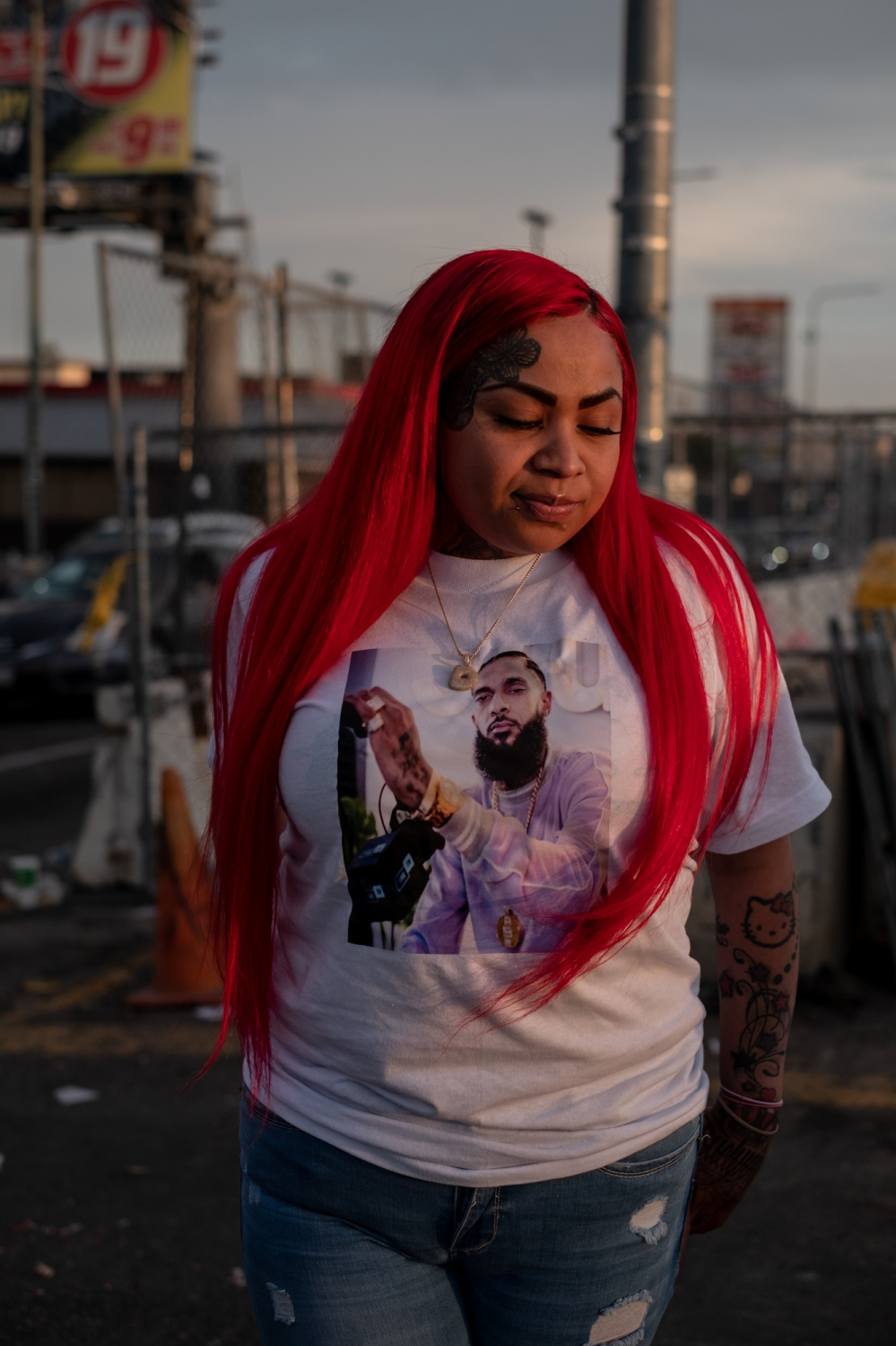 Photography image - Nipsey Hussle's Memorial in Los Angeles/ April 11th, 2019