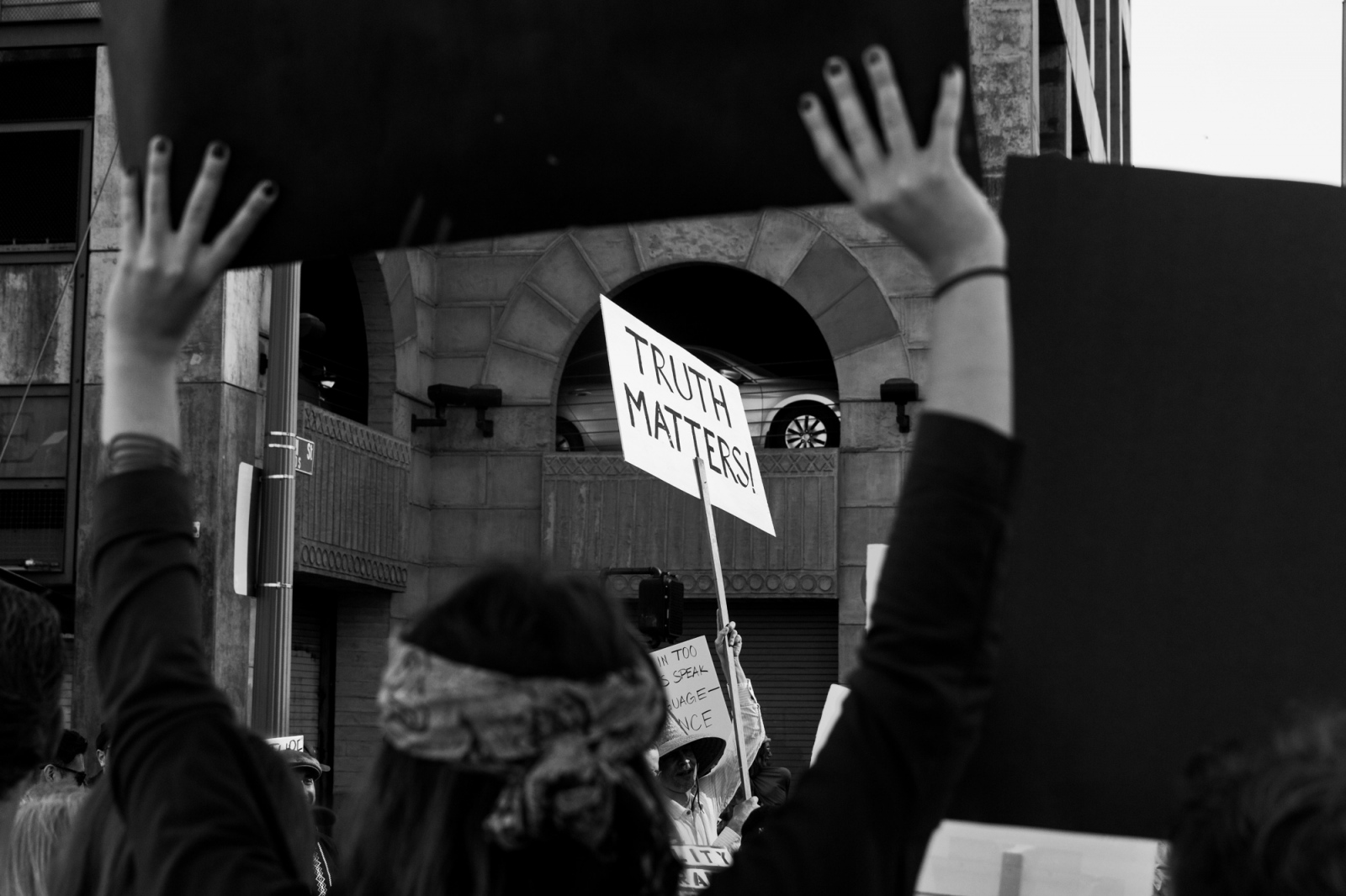 Photography image - Truth Matters. Women's March, Los Angeles, CA, 2017.