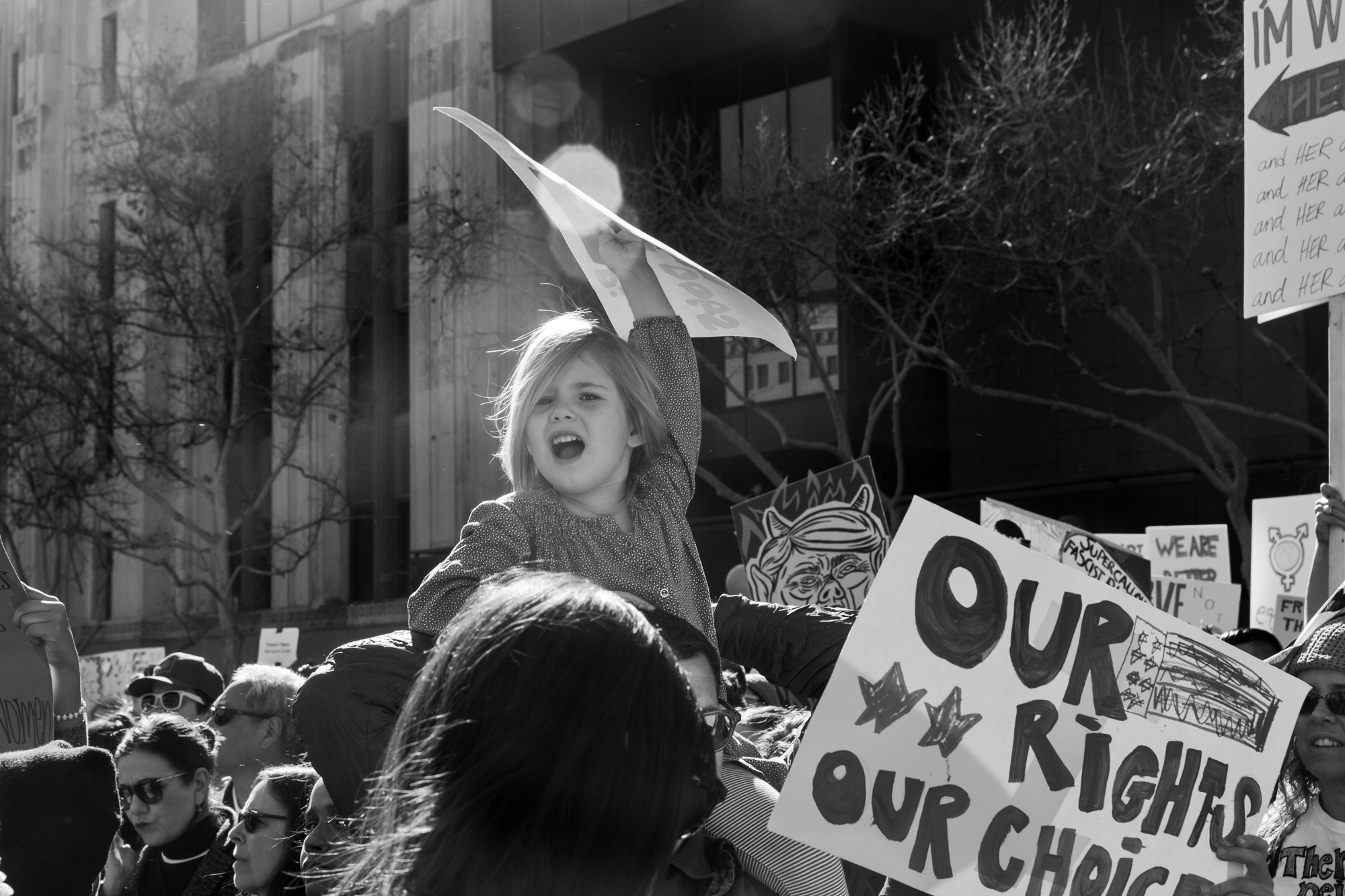 Photography image - Women's March. Los Angeles, CA, 2017.