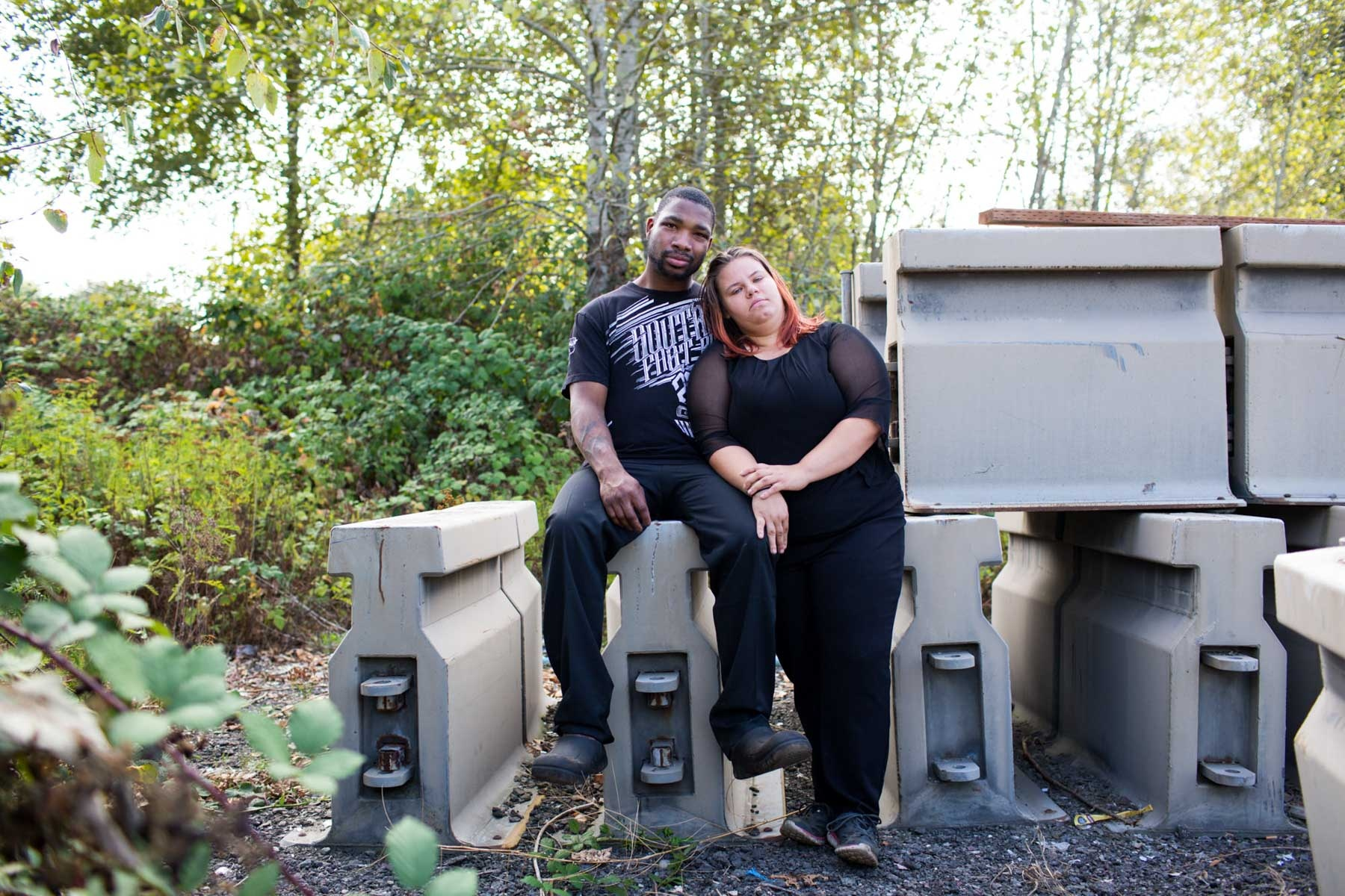 Christopher and Jackie, Camp Second Chance, Seattle 'Homeless couples tell their love stories'  for the Guardian