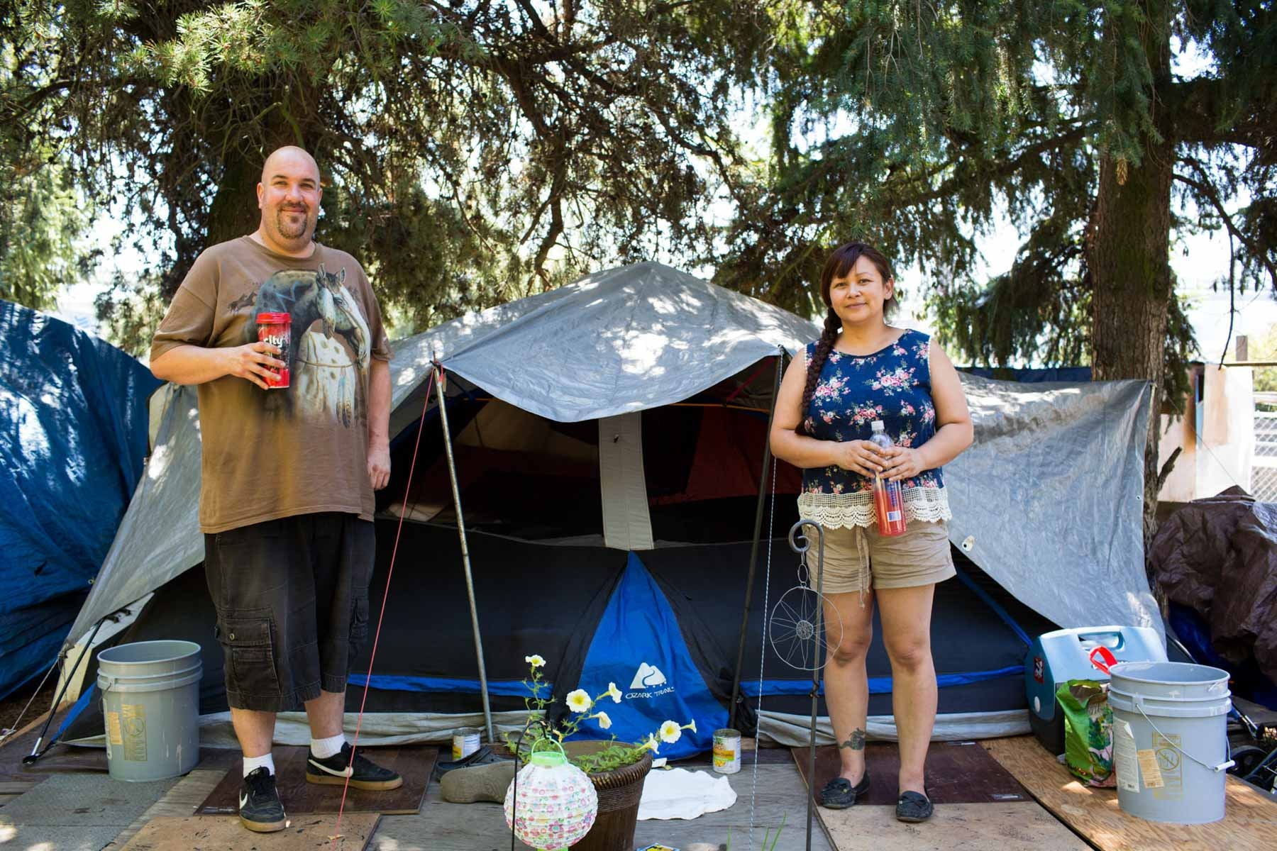 Brian and Melissa, Hazelnut Grove, Portland 'Homeless couples tell their love stories'  for the Guardian
