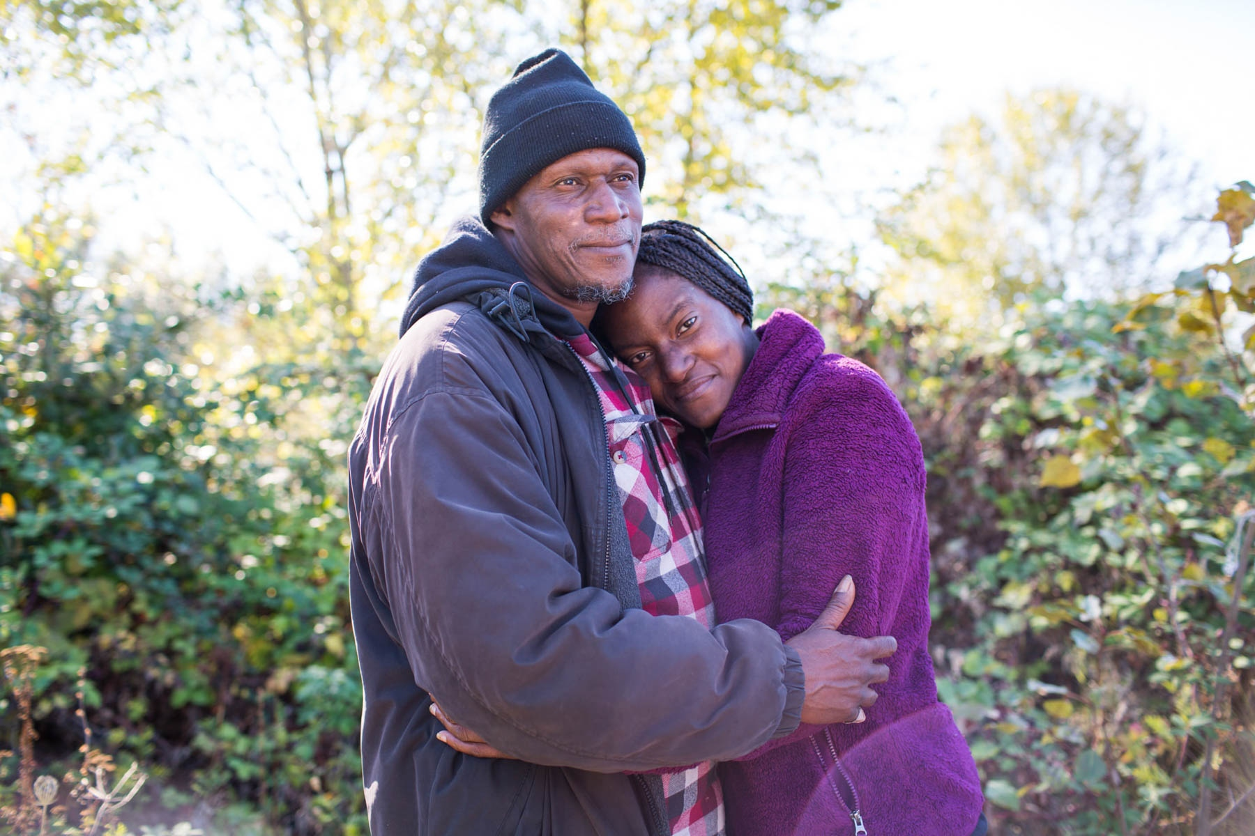 Lakenya and William, Camp Second Chance, Seattle 'Homeless couples tell their love stories'  for the Guardian