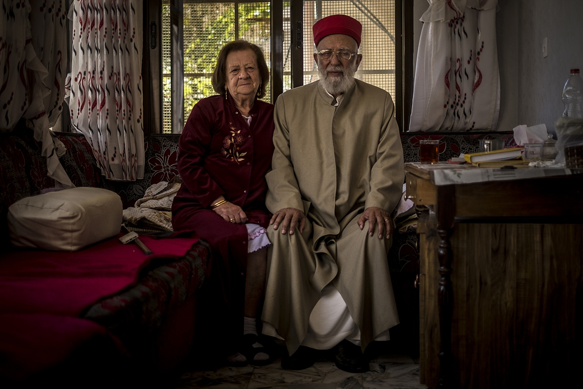 The main Samaritan priest and his wife at home.