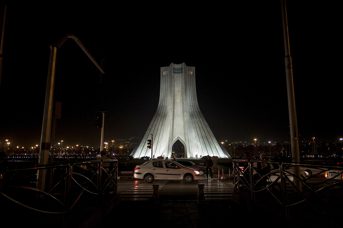 "The Azadi tower's image is used in the most typical post cards of Tehran. The Persian word Azadi means freedom, and as clearly stated by the LGBT community ""it is that same freedom we don't have""."