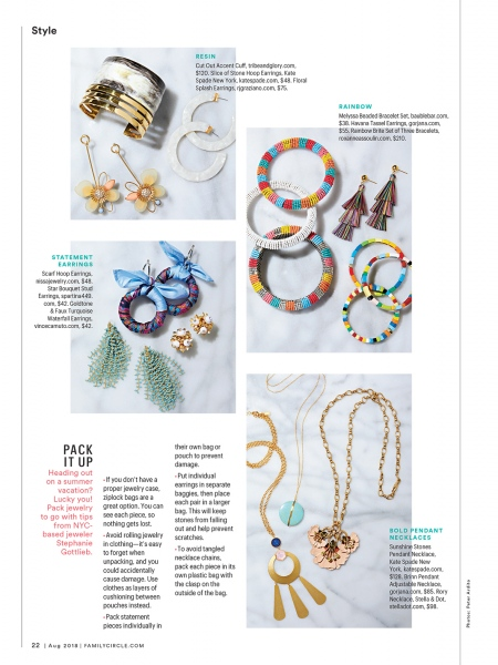 Jewelry Styling and Photo Direction for Family Circle Magazine