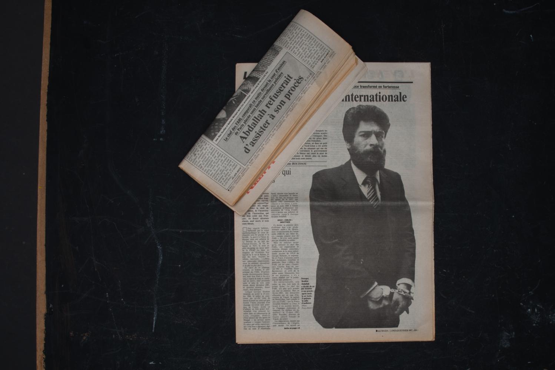 Journal le Matin du 28 février 1987. Titre intérieur du journal : Abdallah refuserait d'assister à son procès